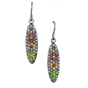 Sparkling Purple Floral Necklace and Matching Earring Jewelry Gift Set (er) - Lilylin Designs