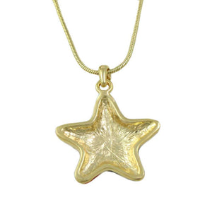 Enamel and Crystal Patriotic Star Pendant with Gold-tone Chain (back) - Lilylin Designs