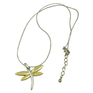 Chain with Two Tone Dragonfly Pendant (whole) - Lilylin Designs
