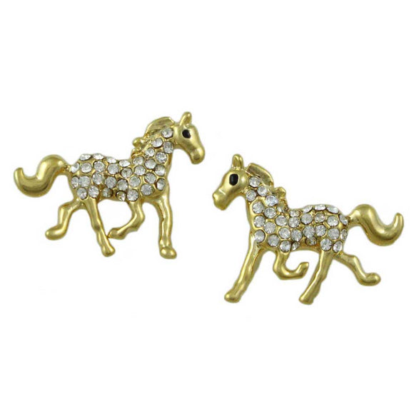 Crystal Horse Pierced Earring - Lilylin Designs