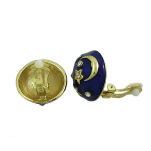 Royal Blue Celestial Dome Clip Earring - Lilylin Designs