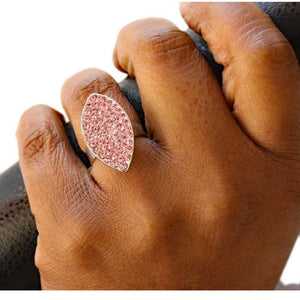 Pink Crystal Marquis Adjustable Ring - RS305