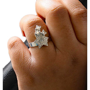 Crystal Shooting Stars Adjustable Ring - RS322