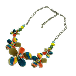Colorful Enamel Rainbow Flower Necklace (whole) - Lilylin Designs