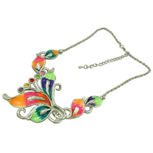 Colorful Enamel and Crystals Calla Lilies Necklace (whole) - Lilylin Designs
