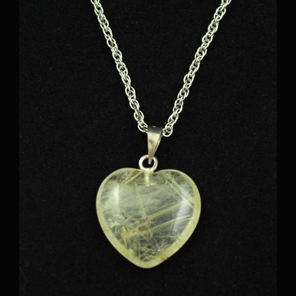 Chain with Clear Quartz Heart Pendant - Lilylin Designs