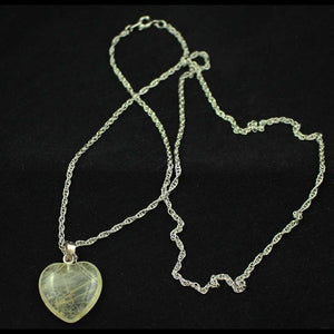 Chain with Clear Quartz Heart Pendant (whole) - Lilylin Designs