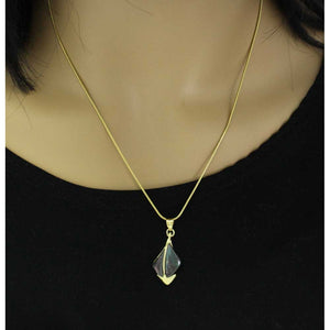 Model with Genuine Abalone Shell Sailboat Pendant with Chain - Lilylin Designs