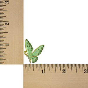 Light Green Enamel and Crystal Profile Butterfly Tac Pin - SPA481B