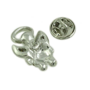 Small Silver-tone Pearl Head Crystal Angel Tac Pin - SPF627