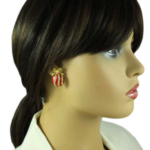 Model wearing ornament earring - Lilylin Designs