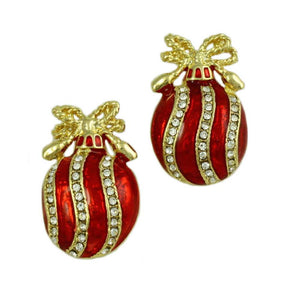 Christmas Ornament Pierced or Clip Earring - Lilylin Designs