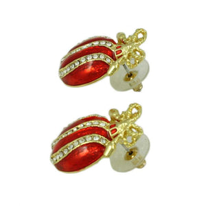 Christmas Ornament Pierced Earring (side) - Lilylin Designs