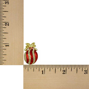 Christmas Ornament Pierced or Clip Earring (sized) - Lilylin Designs