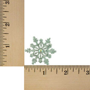 White Glitter Snowflake Pin (sized) - Lilylin Designs