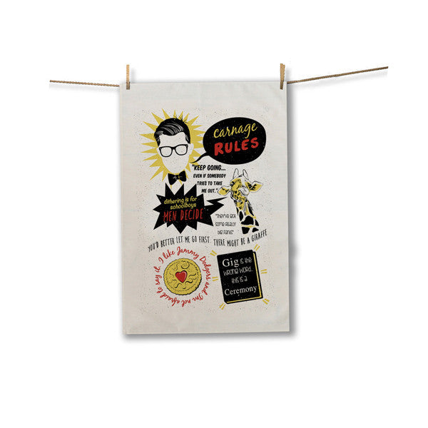 Slogans Tea Towel