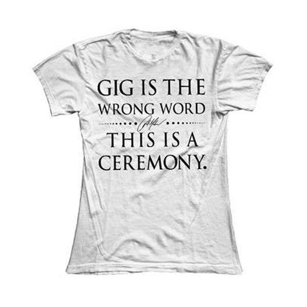 Ceremony Ladies Tee White