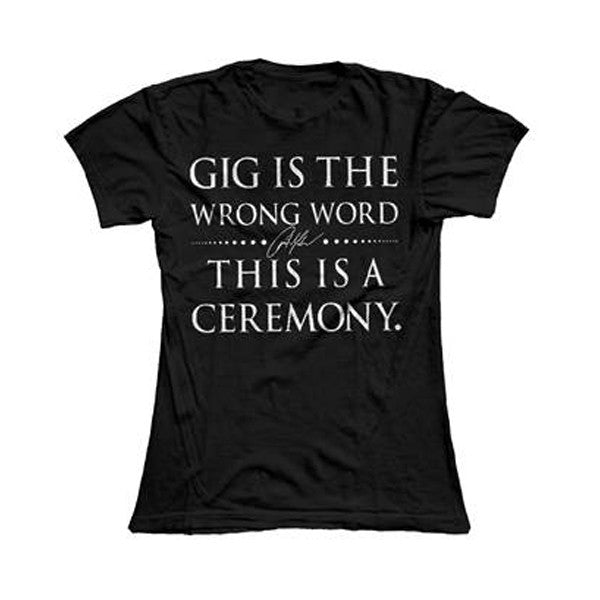 Ceremony Ladies Tee Black