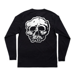 BLACK TRICK/SKULL POCKET LONGSLEEVE T-SHIRT