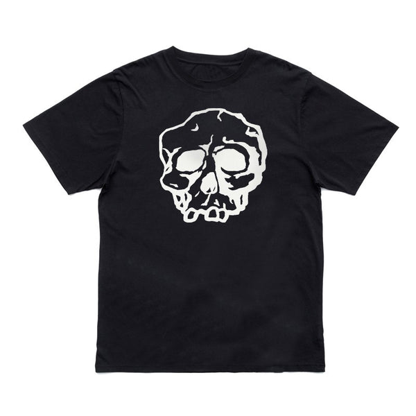 BLACK SKULL LOGO T-SHIRT