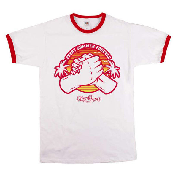 White/Red Every Summer Ringer T-Shirt