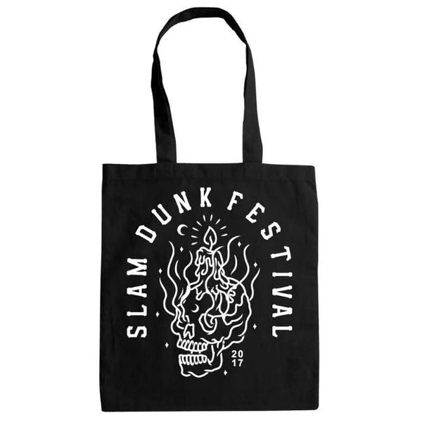 BLACK SKULL CANDLE TOTE BAG