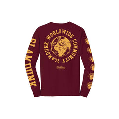 COMMUNITY BURGUNDY Long Sleeve T-Shirt