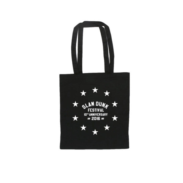 Black Star Circle Tote Bag