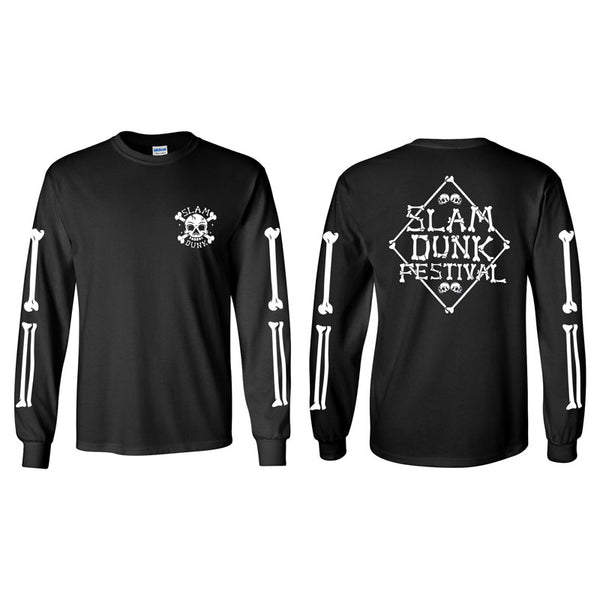 Black Crossbones Long Sleeve T-Shirt