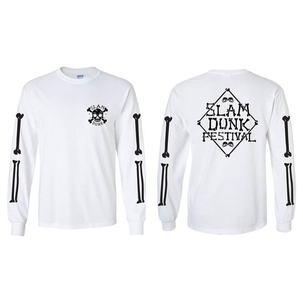White Crossbones Long Sleeve T-Shirt