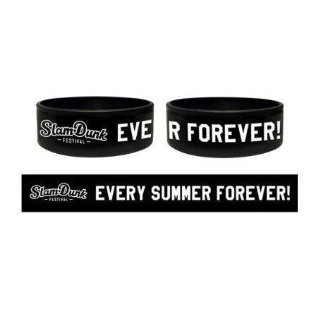 BLACK EVERY SUMMER SILICON WRISTBAND