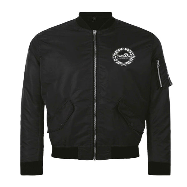 SDC CO BOMBER EMBROIDERED JACKET BLACK