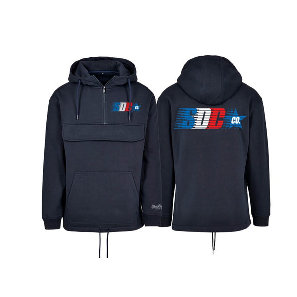 SDC CO POCKET HOODY NAVY