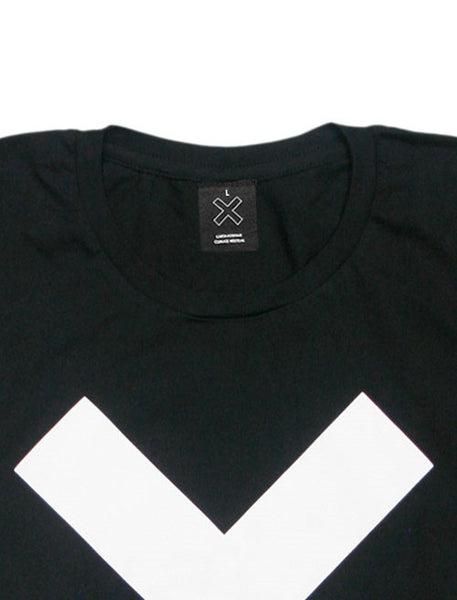 WHITE X MENS BLACK T-SHIRT