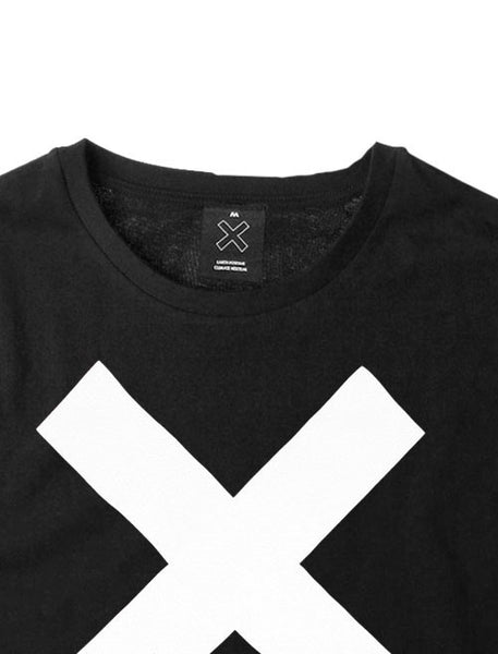 WHITE X GIRLS BLACK T-SHIRT