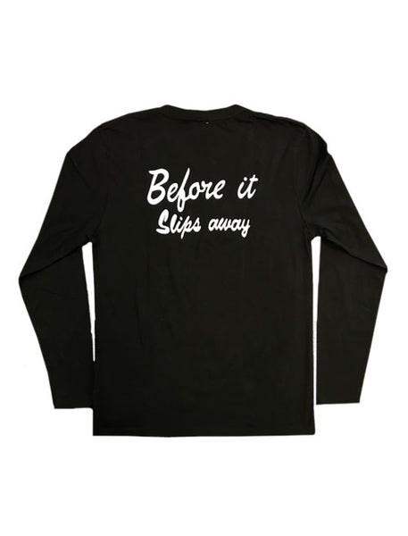BEFORE IT SLIPS AWAY EMBROIDERED LONG SLEEVE T-SHIRT