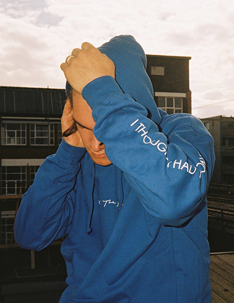 ON HOLD BLUE HOODIE