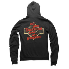 Black We Ride Together Zip Mens & Womens Hoody