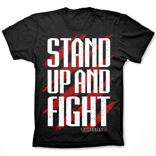 Black Stand Up and Fight T-Shirt
