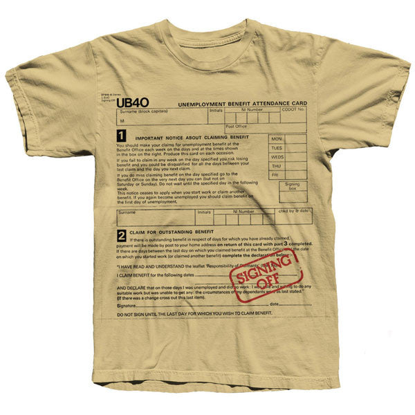 Gold Signing Off T-shirt