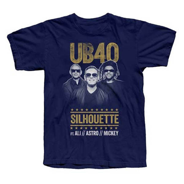 Navy 'Silhouette Tour' T-Shirt