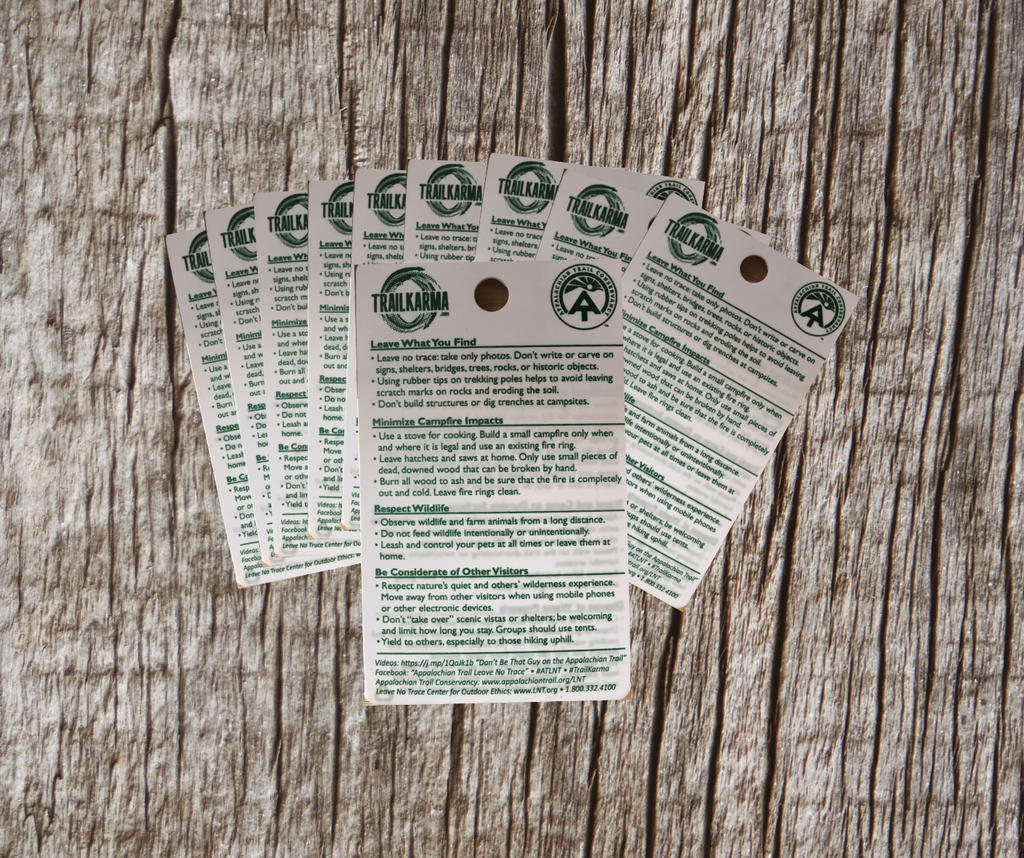 Leave No Trace A.T. Reference Cards - 10 Pack