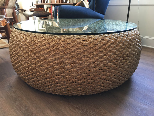 Ralph Lauren Home Driftwood Woven Cocktail Table