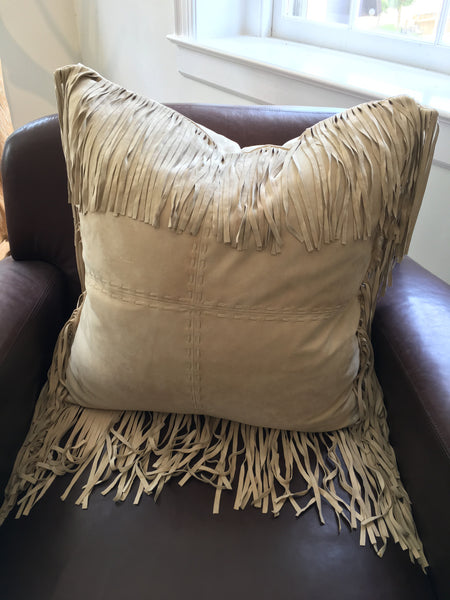 Ralph Lauren Vail Suede Throw Pillow