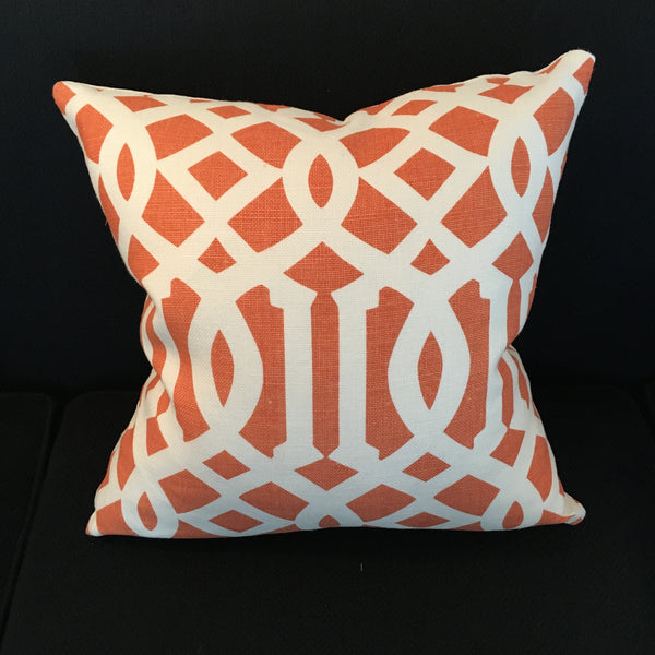 Custom Imperial Trellis II Mandarin Pillow