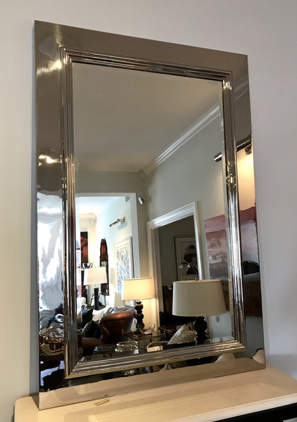 Ralph Lauren Home Duke Polished Steel Mirror