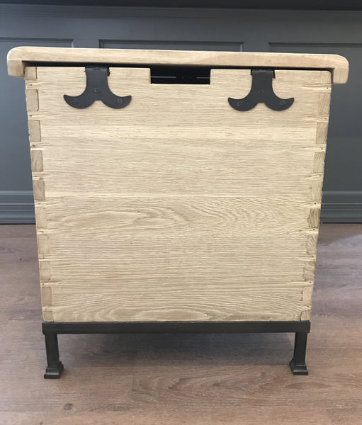 Van Thiel Oak Trunk End Table
