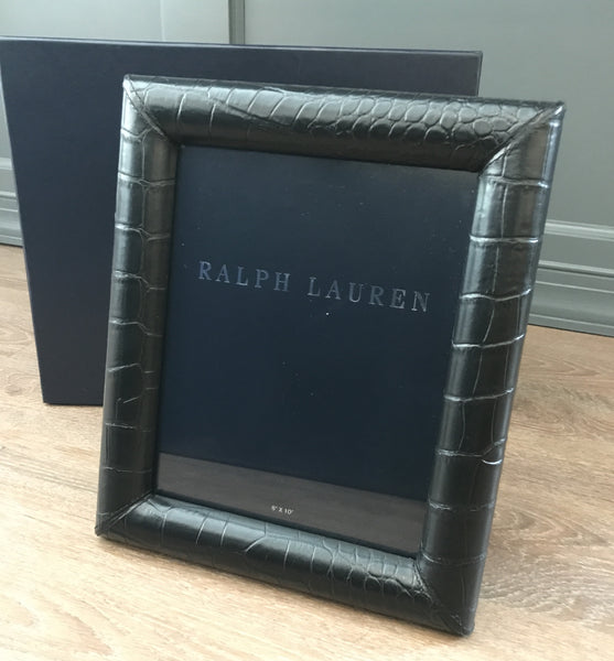 Ralph Lauren Home Bennett Leather Frame 8x10