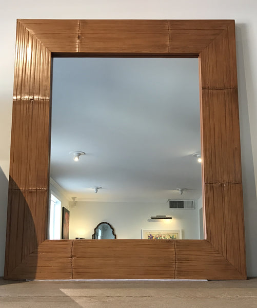 Ralph Lauren Home Crushed Bamboo Mirror