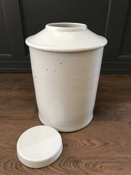 Large White Tea Jar
